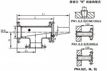 ST14正折流式T型过滤器