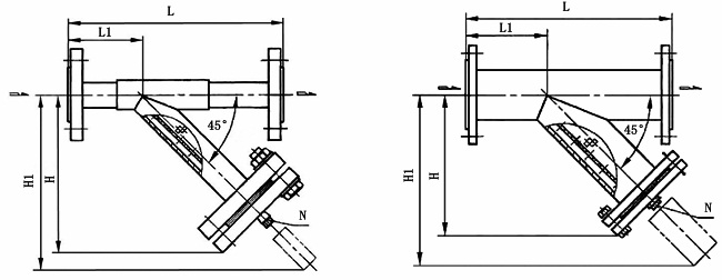 SRY管道用三通Y型过滤器结构图