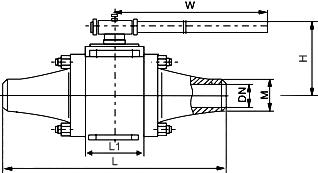 Q61N对焊高压球阀