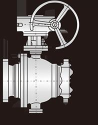 Q347H蜗轮固定球阀